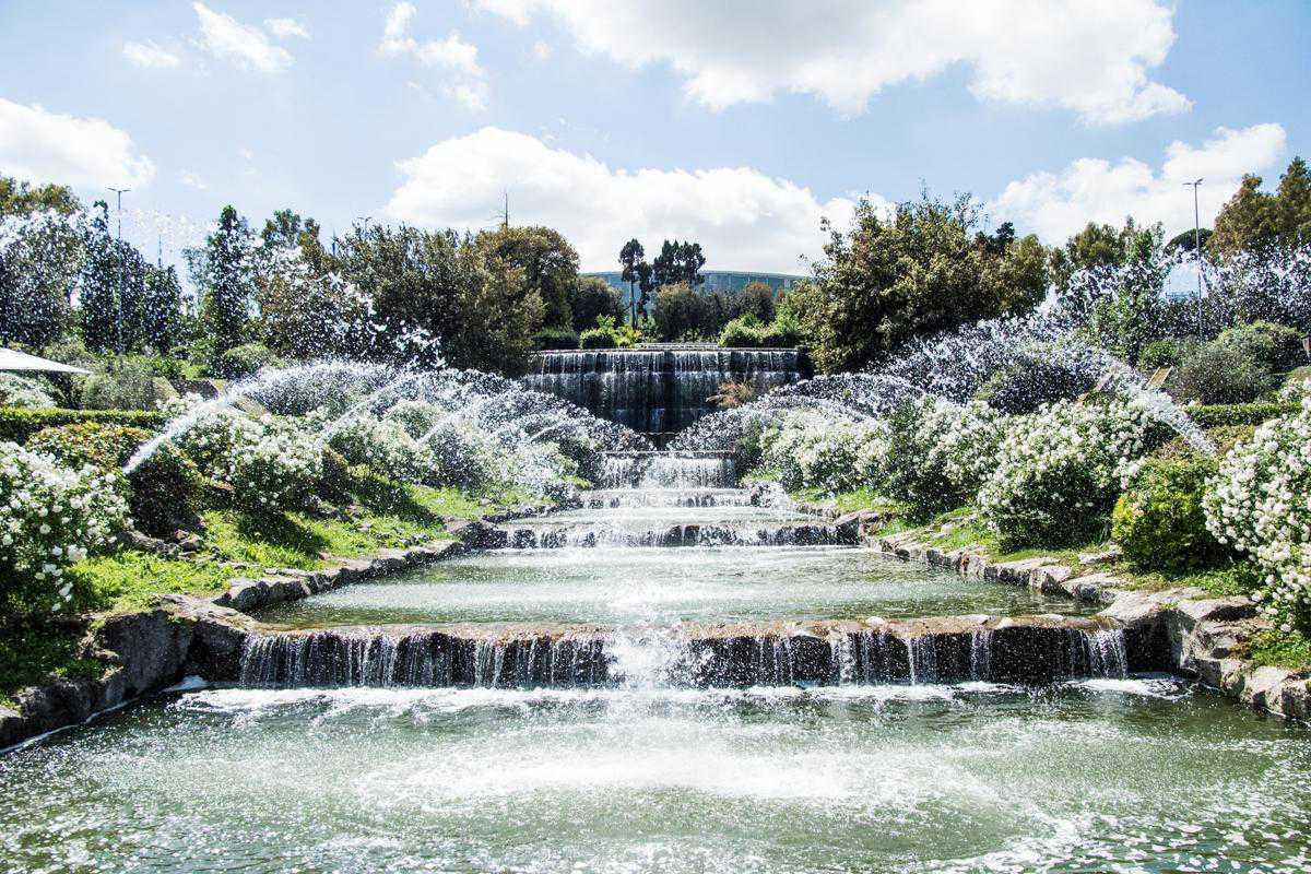 Cascata Da Giardino Moderna : Eur riapre il giardino delle cascate la u cversailles modernau d romana