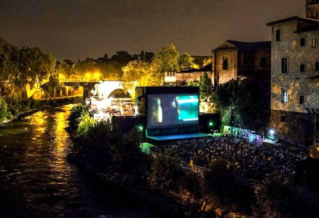 cinema all'aperto tiburtina Isola del Cinema