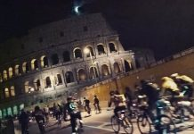 pedalata di luna piena roma